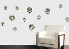 Damascato Motivo a Fiori-confezione da 12-Wall art Adesivi Decalcomanie Murales trasferimenti