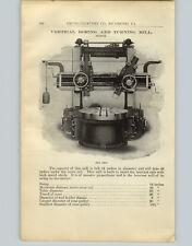 1905 PAPER AD Colburn Machine Tool Co Vertical Boring Turning Mill Horizontal