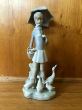 Lladro Girl with Umbrella #4510 - mint condition