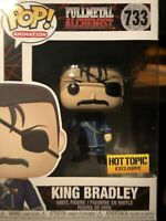 Funko Pop! King Bradley Fullmetal Alchemist FMA Hot Topic #733 Mint W/ Protector