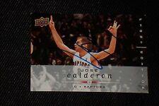 JOSE CALDERON 2008-09 UD FIRST ED SIGNED AUTOGRAPHED CARD #185 RAPTORS KNICKS