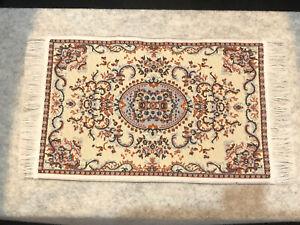Dolls House Miniature 1/12 Medium Turkish Floor Rug Carpet 18 cm X 10 cm  F865