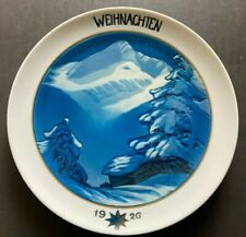 "Rare 1926 ! Rosenthal Porcelain Christmas Plate Hand-painted diameter 8.7"""
