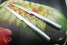 NEW 2  ALUMINUM CARVING DECOR CUTTER KNIFE VEGETABLE FOOD SOAP DIY FREE SHIP