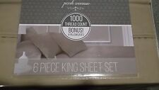 PARK AVENUE 1000 THREAD COUNT KING  SHEET 6 PIECE SET WITH 4 PILLOWCASES