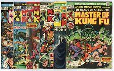 Master of Kung Fu #15 (#1) - 125  Complete Set  avg. VF- 7.5  Marvel  1973