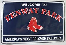 FENWAY PARK LARGE METAL SIGN Boston Red Sox Embossed 18x12 NEW Baseball MLB Tin