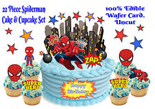 EDIBLE Marvel SUPERHERO Spiderman Comic WAFER Card Stand Up Birthday Cake Topper