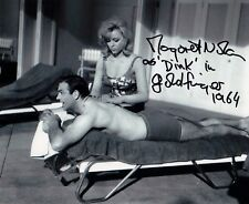 MARGARET NOLAN BOND GIRL IN PERSON SIGNED PHOTO FROM JAMES BONDS GOLDFINGER