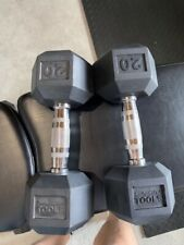 Body-Solid 20 Lb. - BARELY USED Rubber-Coated Hex Dumbbell - See Pictures