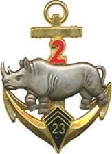 23° Bataillon d'Infanterie de Marine, 2° Esc, rhinocéros argenté, Fraisse(7264)