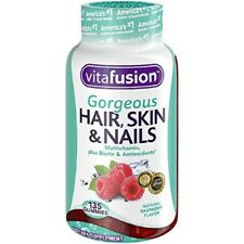 Vitafusion Hair Skin and Nails Gummies 2X Biotin Multivitamin Gorgeous 135 Ct.