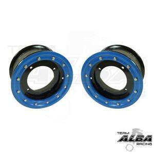 YFZ 450 YFZ 450R  Front Wheels  Beadlock  10x5  3+2  4/156  Alba Racing  Blk/blu