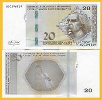 Bosnia-Herzegovina 20 Maraka p-83 2019 UNC Banknote