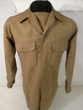 WWII US AAF Enlisted Wool Uniform Shirt 3rd Pat w/Gas Flap Size 14 X 32 w/Rank
