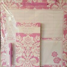 NEW LAURA ASHLEY Tatton Kitchen Memo Board & Notepad & Pen Pink