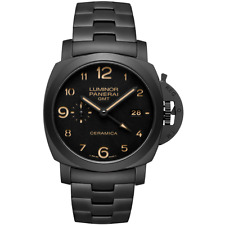 Panerai tuttonero Luminor 1950 3 giorni GMT 44 mm-mai indossato con scatola e documenti