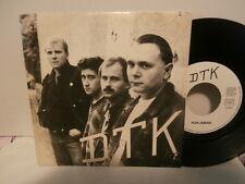 """D T K """"plus jamais""""single7""""or.fr.src:153860.(dédicacés)ULTRA RARE PUNK FRANCAIS"""