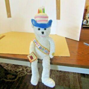 Chantilly Lane Happy Birthday Musical Bear Light Up Hat Animated