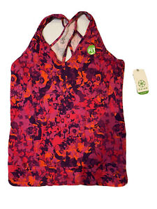 GAIAM Large Quest Yoga Women's Tank Top Exercise NWT Size L LARGE Keyhole Back