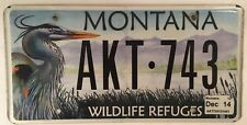 WILDLIFE NATIONAL PARK license plate Wild Animal Sanctuary Migration Grebe Heron