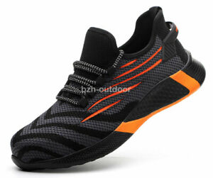 Unisex Super Light Breathable Safety Shoes Steel Toe Anti Puncture Work Boots