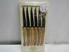 Williams Sonoma Jean Dubost Laguiole Set Of 6 Steak Knives Olivewood 793078