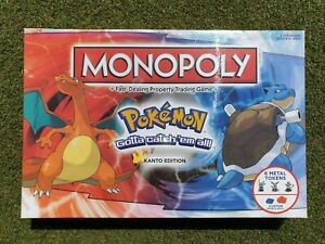 POKEMON MONOPOLY KANTO EDITION - BRAND NEW SEALED UK- BOARD GAME USAOPOLY BNIB