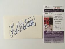 Phil Hartman Signed Autographed 3x5 Card JSA Certified