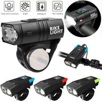 LED Bicycle Light USB Rechargeable MTB Mountain Road Bike Cycling Front Lamp