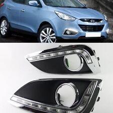 2x Bright LED Daytime Running bump Fog Light Lamp DRL For Hyundai ix35 2011-2014
