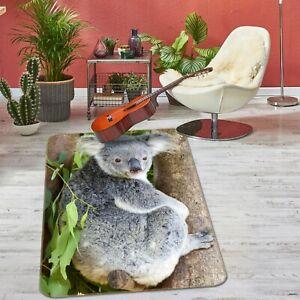 3D Koala Forest Stump I585 Animal Non Slip Rug Mat Round Elegant Carpet Honey