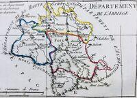 Ariège en 1794 Andorre Foix Mirepoix Seix Vic Saverdun Mas d'Azil Lézat Massat