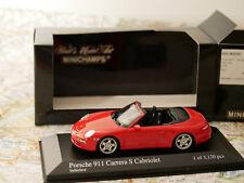 MINICHAMPS PORSCHE 911 CARRERA S CABRIOLET 2005 ROT ART.400063030 NEW DIE-CAST