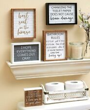 Funny Fun Bathroom Wall Art Prints Farmhouse Decor Quotes Signs Picture Gag Gift