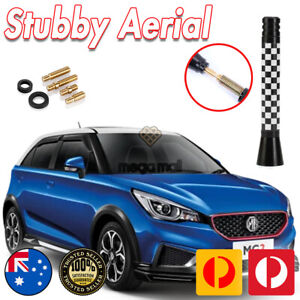 Antenna / Aerial Stubby Bee Sting for MG MG3 Black White Racing Flag 7.5CM