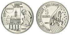 ZUM NENNWERT!!!    BELGIEN 5 EURO MONS KULTURHAUPTSTADT 2015 STEMPELGLANZ