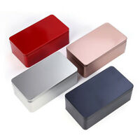 Candy Tin Box Small Storage Box Gift Box Tinplate Tea Cans Metal Solid 5Colors