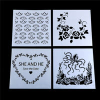 Craft Layering Flower Stencils Wall Painting Scrapbooking Embossing Paper_PY