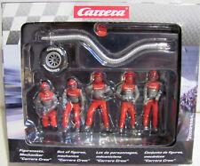Carrera Evolution / Digital 132 Figuren Mechaniker (5 Stück) in rot -21131 NEU