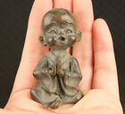 Rare Chinese bronze monk buddha statue noble gift table decoration