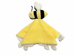 Burts Bees Baby Yellow Bumble Bee Security Blanket Lovey 100% Organic Cotton