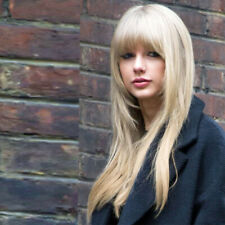 Blonde Bob Synthetic Wigs with Bangs Layered Hair Straight Wigs for Women