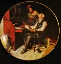 """Knowles Norman Rockwell Plate """"The Love Letters"""" 1989 Golden Moments Collection"""