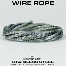 1mm 7x7 High Quality Stainless Steel Wire Rope Cable Balustrade Cable Per Mt