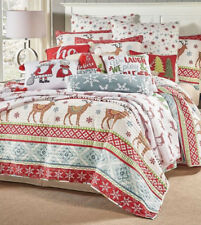2129ebf198b4 Christmas Reindeer Holidays Full   Queen Quilt   Shams Set (3 Piece Bedding)