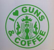 I Love Guns And AR15 AK47 9mm 45acp 357 Car Truck Window XL Size Decal Sticker