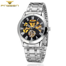 Luxury MENS Woman Wristwatch Skeleton Automatic Mechanical Stainless Steel Watch