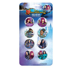 DESCENDANTS 2 BUTTONS (8) ~ Birthday Party Supplies Favors Pins Toys Disney