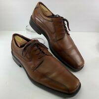Ecco Mens Oxford Dress Shoes Brown Bicycle Toe Lace Up 9.5-10 EUR 44